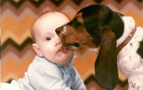 Kid Licked By Dog