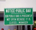 Public Bar Closed