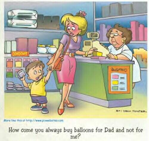Buying Balloons For Dad