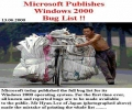 Windows 2000 Bug List