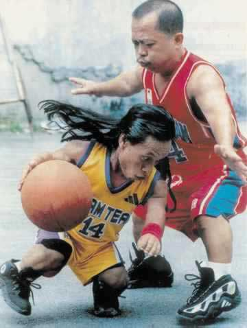 Midgets Playing Basketball