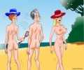 Don't go with your wife on a nudist beach
