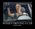 Women Drivig Car