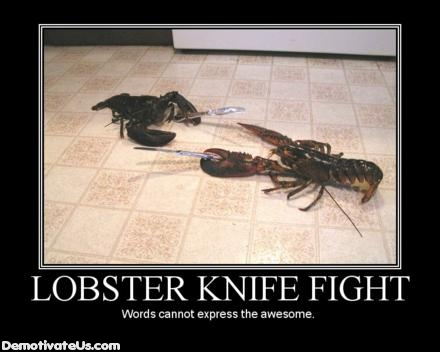 Toctys weapons Lobster-knife-fight