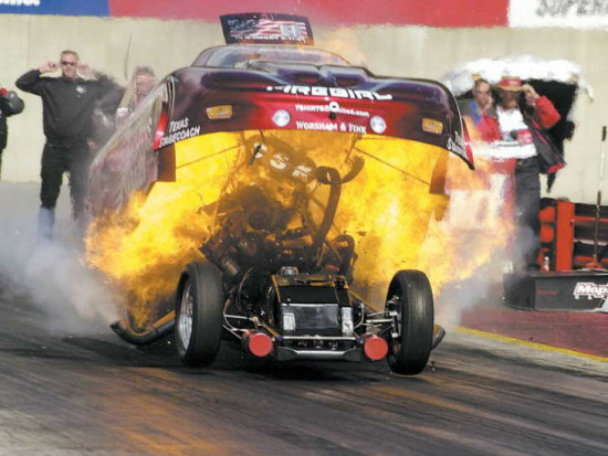 Funny Car On Flames
