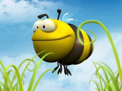 Funny 3d Bee Picture