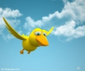 Funny Flying Bird